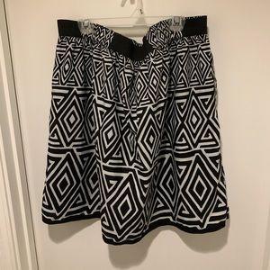 White House Black Market Tribal Print Skirt
